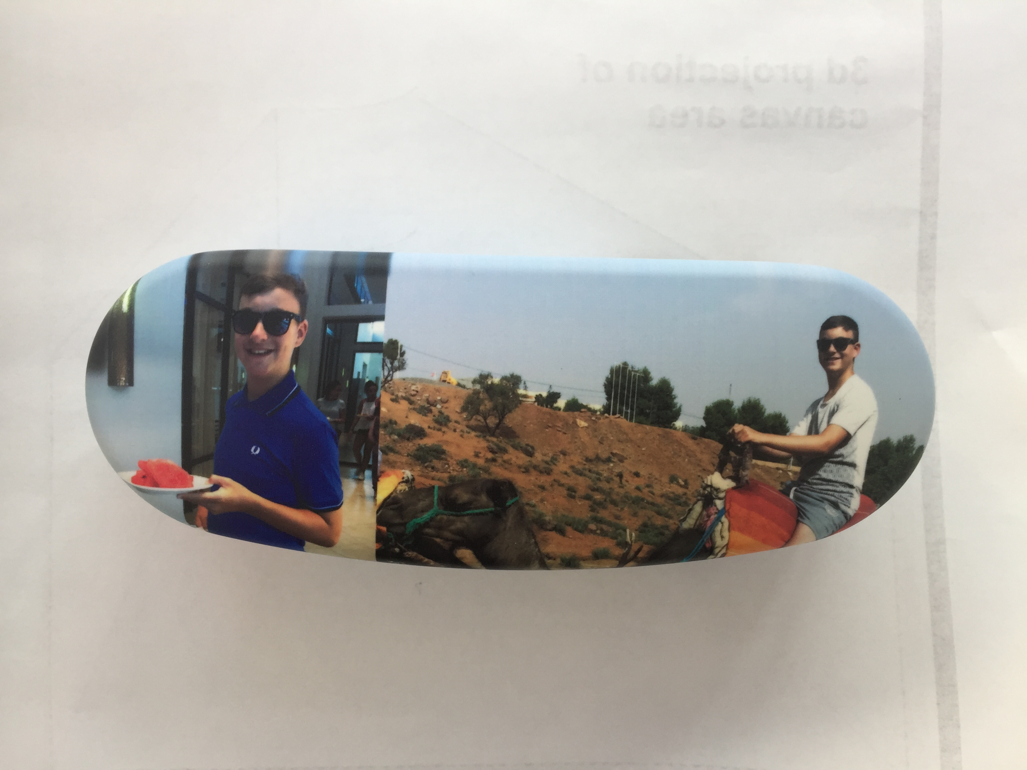 Personalised Hard Protective Glasses Case Printed  With Your Own Photo or Image