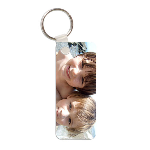 personalisied rectangular photo keyring