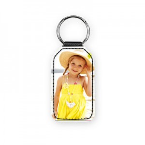 Personalized Leather KeyRing with your Custom Photo